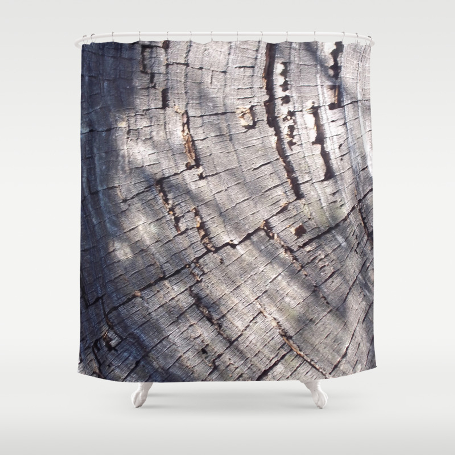 Wooden Rings Shower Curtain