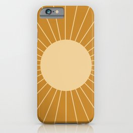 Minimal Sunrays - Golden iPhone Case