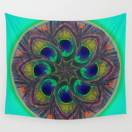 circle of feathers  Wall Tapestry