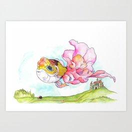 Flying Fish Art Print