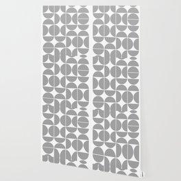 Mid Century Modern Geometric 04 Grey Wallpaper