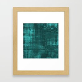 Teal Green Solid Abstract Framed Art Print