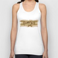airplane Tank Tops featuring Airplane by LaDa