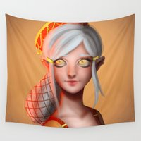 medieval Wall Tapestries featuring Medieval Elf by VanillaDeonna