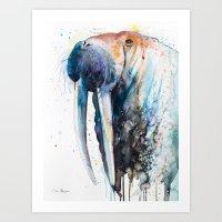 walrus Art Prints featuring Walrus by Slaveika Aladjova