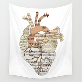 Sound Of My Heart (on white) Wall Tapestry