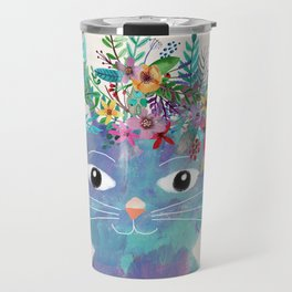 Flower cat II Travel Mug