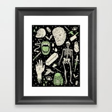 Whole Lotta Horror: BLK ed. Framed Art Print