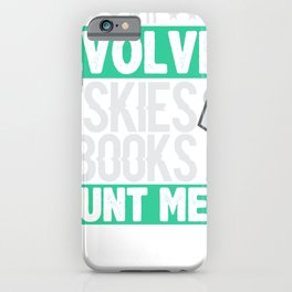 Husky Dog Lover If it Involves Huskies and Books Count Me In Book Lover iPhone Case