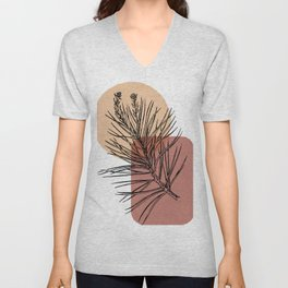Abstract Pine Unisex V-Neck
