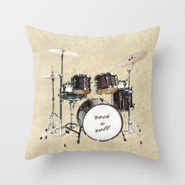 Drumkit Throw Pillow