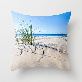 Beachy vibes Throw Pillow
