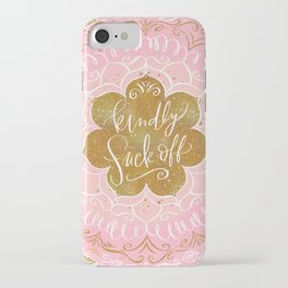 Fancy Words: Kindly Fuck Off iPhone Case