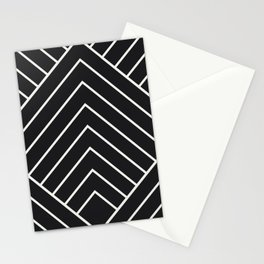 Diamond Series Pyramid White on Charcoal Stationery Cards