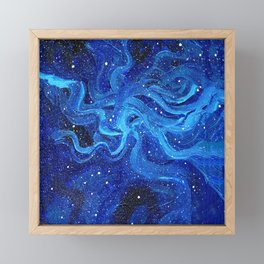 Galaxy Painting Acrylic Galaxy Art Framed Mini Art Print
