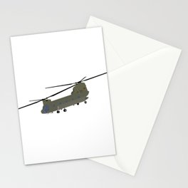 Military CH-47 Chinook Helicopter Stationery Cards