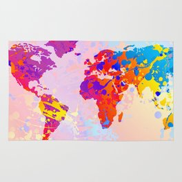 What a Colorful World Map Rug