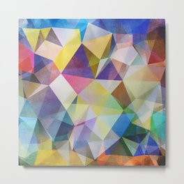 Textured Triangles Metal Print
