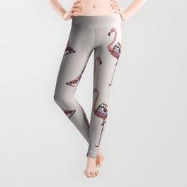 Flamingo and Shih Tzu Leggings