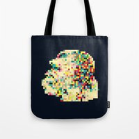 8bit Tote Bags featuring Ape 8bit by jnk2007