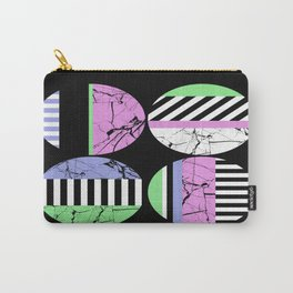 AMPS Uno - Abstract Marble Pastel Stripes Carry-All Pouch