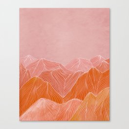 Lines in the mountains - pink II Canvas Print