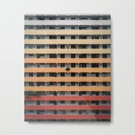 Gradient Building Metal Print
