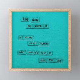 Ding Dong Framed Mini Art Print