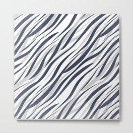 Abstract grey white pattern . Metal Print