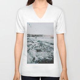 summer waves ii / bondi beach, australia Unisex V-Neck