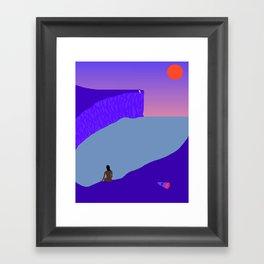 The Space Inbetween Framed Art Print