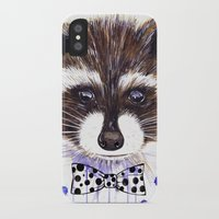 raccoon iPhone & iPod Cases featuring Raccoon by Iskoskikh Sveta