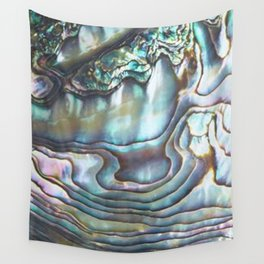 Shimmery Pastel Abalone Shell Wall Tapestry