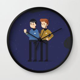 Spock and Kirk Wall Clock