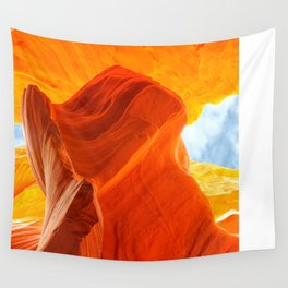 Antelope Canyon with Clouds Wall Tapestry