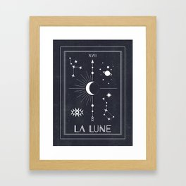 The Moon or La Lune Tarot Framed Art Print