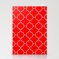 moroccan Stationery Cards featuring Moroccan Red by Jenna Mhairi