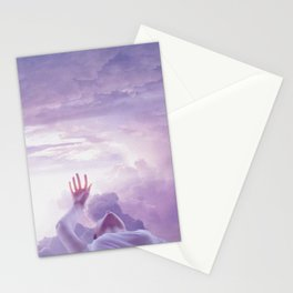 levitate like static Stationery Cards