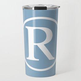Registered Trademark Sign on placid blue background Travel Mug