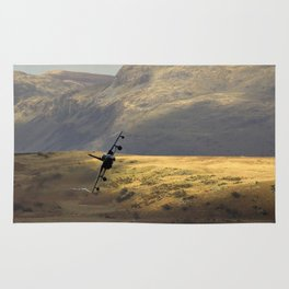 Flying over fields of gold Rug