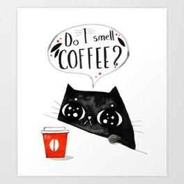 Do I smell coffee? Art Print
