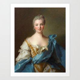 Madam de La Porte Portrait by Jean - Marc Nattier Art Print