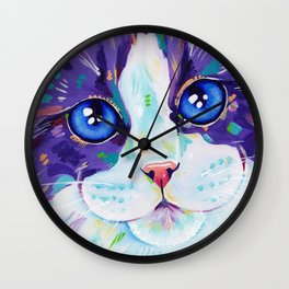 Cats in colour 4 Wall Clock