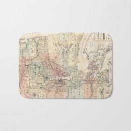 Vintage Map of The Puget Sound (1891) Bath Mat
