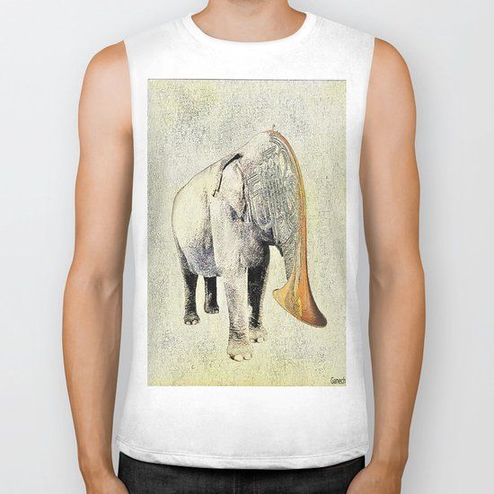 the elephant musician Biker Tank