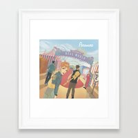 paramore Framed Art Prints featuring Paramore - Welcome to Real World by Zinenkoij