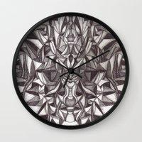 cheshire cat Wall Clocks featuring Cheshire by IRIS Photo & Design