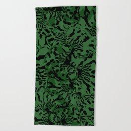GREEN TRIDANCA Beach Towel