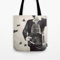 butterfly Tote Bags featuring The Butterfly Releaser by elle moss