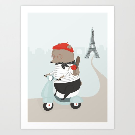 Pierre Picnics in Paris Art Print